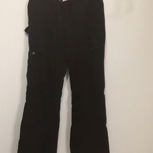 Koi Scrub Bottoms Pants Womens Medium M Black